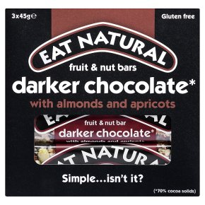 Eat Natural dark 70% chocolate with almonds and apricots