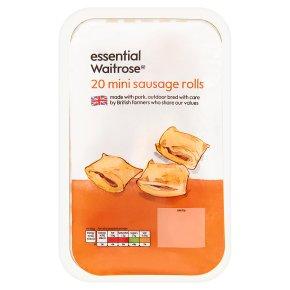essential Waitrose 20 mini sausage rolls