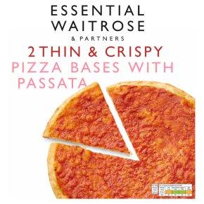 Waitrose 2 stonebaked pizza bases
