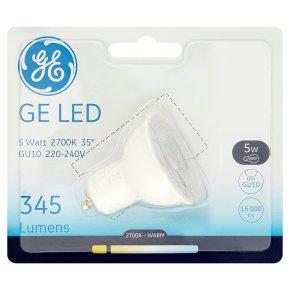GE LED 345 Lumen GU10 4.5W 100-240V