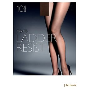 John Lewis10 denier nearly black ladder resistant tights (large)