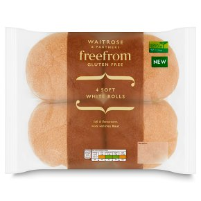 Waitrose Free From Soft White Rolls