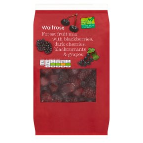 essential Waitrose frozen black forest fruits