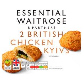 essential Waitrose 2 British Chicken Kievs