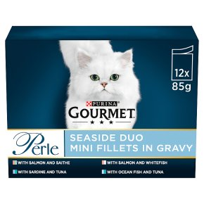 Gourmet Perle Cat Food Pouches Seaside Duo