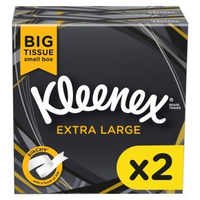 Kleenex Mansize Tissues, compact box twin pack
