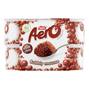 Aero milk choc bubbly dessert