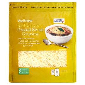Waitrose grated Swiss gruyere strength 3