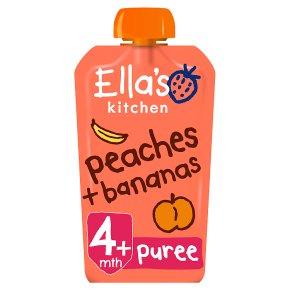 Ella's Kitchen Organic peaches & bananas - stage 1 baby food