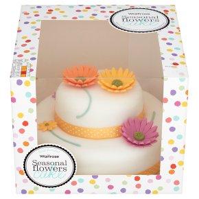 Waitrose Seasonal Flowers Cake