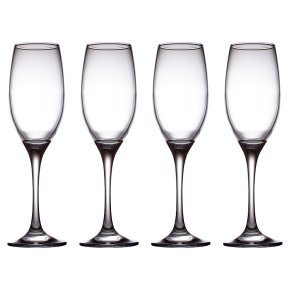 essential Waitrose champagne flutes, pack of 4