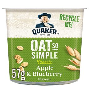 Quaker Oats So Simple apple & blueberry porridge cereal pot