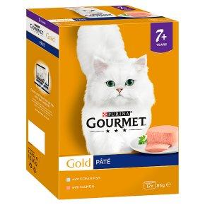 Gourmet Gold Senior Tinned Cat Food Pate Fish