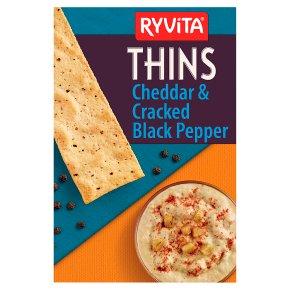 Ryvita Thins Cheddar Cheese & Black Pepper
