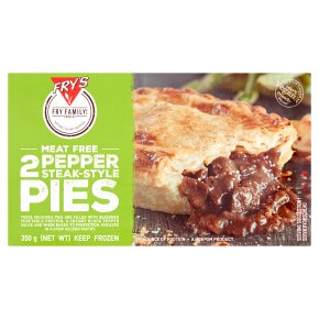 Frys FRZ VE Pepper Steak Pie