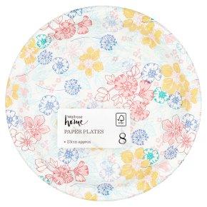 Waitrose Home Floral Paper Plates