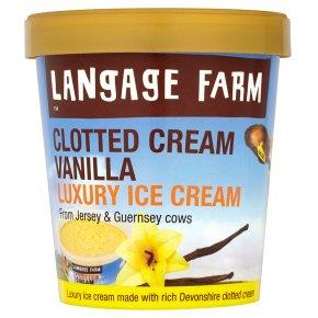 Langage vanilla clotted cream ice cream