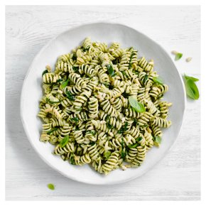 Pesto Pasta with Spinach & Pine Nuts