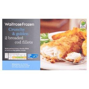 Waitrose Frozen 2 breaded cod fillets