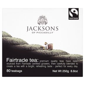 Jacksons of Piccadilly Fairtrade tea 80 tea bags
