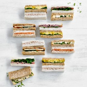 Finger Sandwich Platter - mixed (18 pieces)