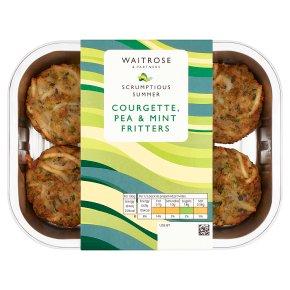 Waitrose Courgette, Pea & Mint Fritters