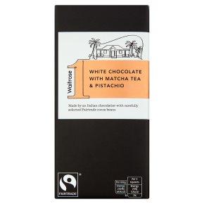 Waitrose 1 white chocolate with matcha tea pistachio