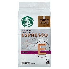 Starbucks whole bean espresso roast dark Arabica coffee