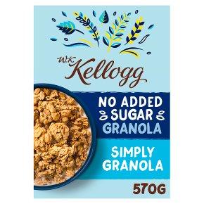 Kellogg's No Added Sugar Simply Plain Granola