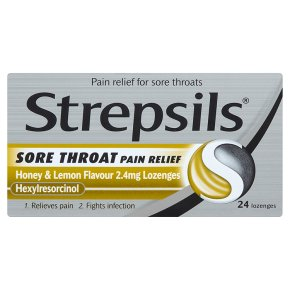Strepsils Throat Pain Relief Honey