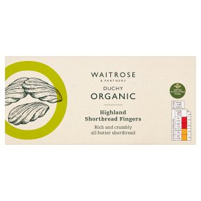 Waitrose Duchy Organic all butter shortbread melts