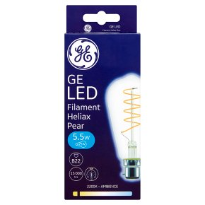 GE LED Filament Heliax Pear White