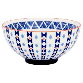 Fusion Medium Blue Stripe Bowl