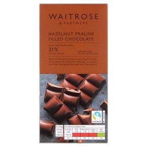 Waitrose Milk Chocolate with Hazelnut Praline