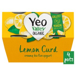 Yeo Valley 4 organic lemon curd yogurts