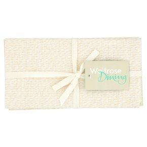 Waitrose Dining Gold Thread Napkins