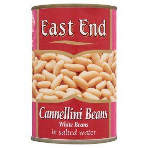 East End cannellini beans in salted water