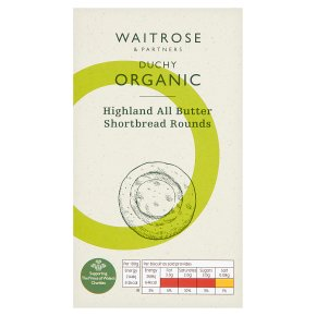 Waitrose Duchy Organic Highland all butter shortbread