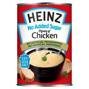 Heinz No Added Sugar Cream of Chicken Soup 25% Less Salt