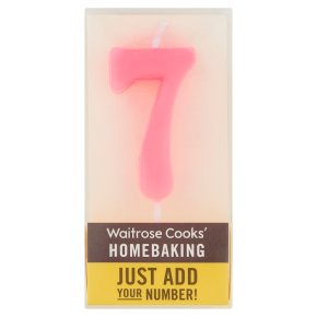 Waitrose Cooks' Homebaking Number 7 Candle