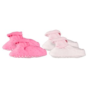Waitrose girls baby booties, 2 pack