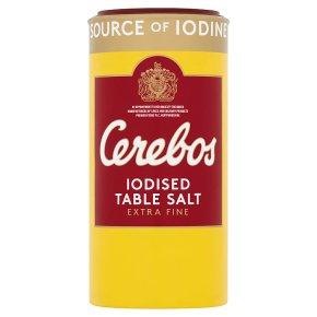 Cerebos extra fine iodised table salt