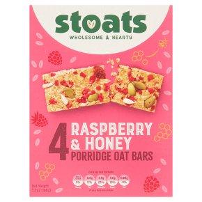 Stoats 4 Raspberry & Honey Porridge Oat Bars