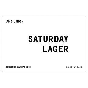 And Union Saturday Lager