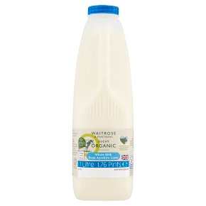 Waitrose Duchy Organic Ayrshire Whole Milk