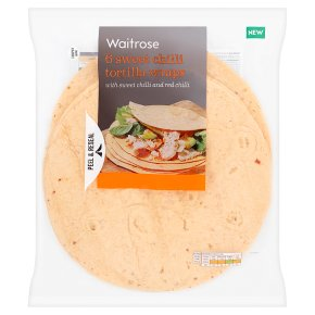 Waitrose 6 Sweet Chilli Tortilla Wraps