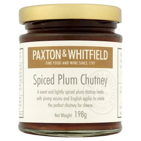 Paxton & Whitfield spiced plum chutney