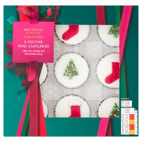 Waitrose Christmas Mini Sponge Cup Cakes