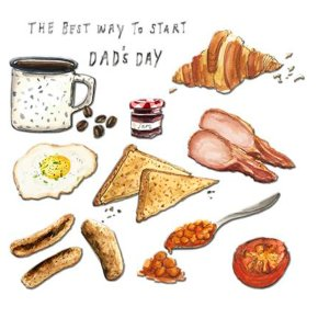 Breakfast Father's Day Card