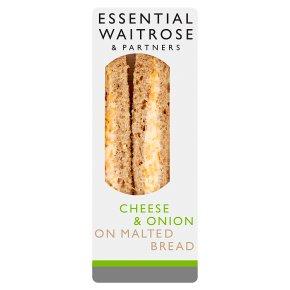 Essential Waitrose cheese & onion sandwich